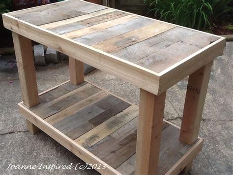 pallet project kitchen island work table pallet