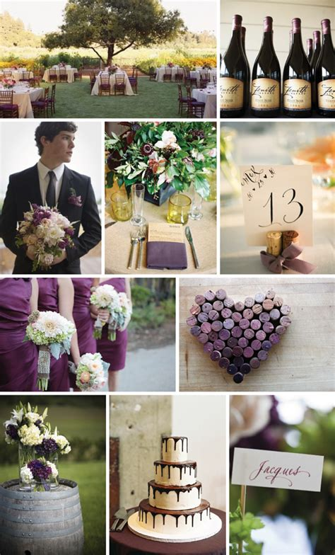 Purple And Cream Wedding Colors