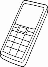 Coloring Phone Cell Pages Iphone Line Clipart Blackberry Site Clipartbest Clip Popular Computer Coloringhome sketch template