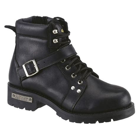 biker boots for 39 s 6 quot ad tec zipper biker boots black 303855