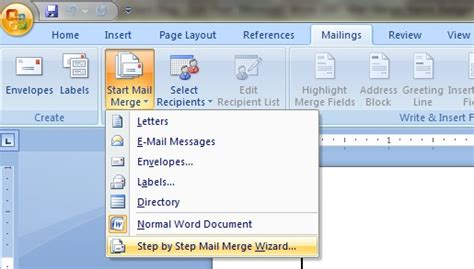 executive assistant microsoft word  mail merge