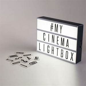 Original cinema lightbox battery powered led lights for Led light box with letters