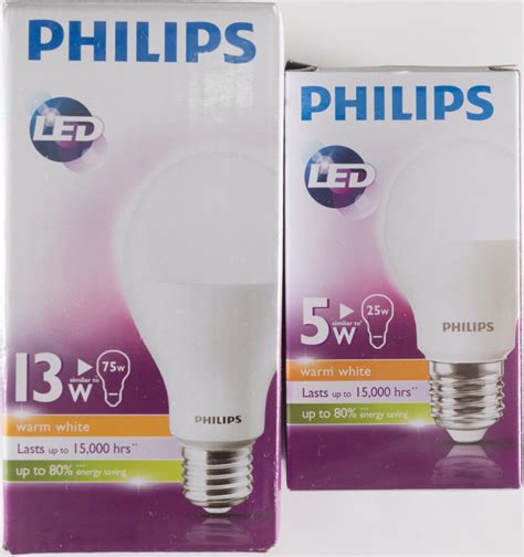 review 5w 13w philips led light globes at