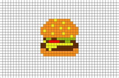 Pixel Hamburger Burger Brik Template Cheeseburger Insta