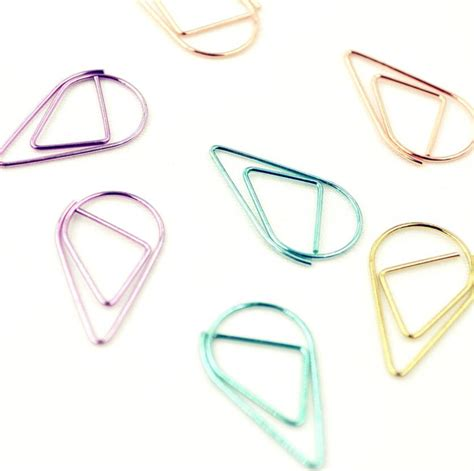 5boxes mixed water drop bookmark paper clip office