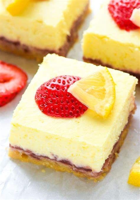 cheese for desserts strawberry lemon cheese bars recipe cheeses light summer desserts and cheesecake