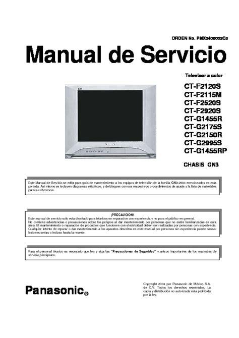 circuitos panasonic ctg2175s chasis gn3 tv service manual pdf diagramas de circuito