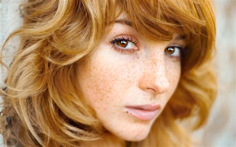 redhead, Freckles, Women Wallpapers HD / Desktop and ...