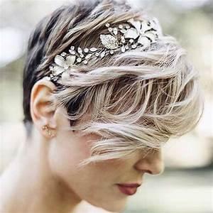 Coiffure Mariage Cheveux Court : coiffures de mari e pour cheveux courts 18 id es ~ Dode.kayakingforconservation.com Idées de Décoration