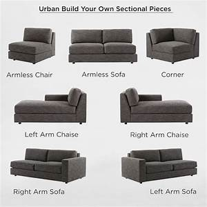 Build your own urban sectional pieces west elm for Build your own modular sectional sofa