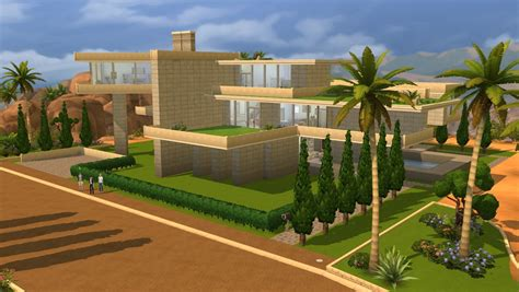 sims  modern gardens house  ramborocky  deviantart