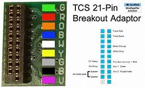 Tutorial  Tcs 21 Pin Dcc Breakout Adaptor