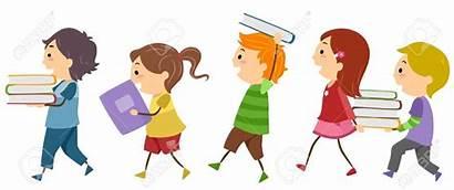 Clipart Books Voortrekkers Children Kinder Carrying Lectura
