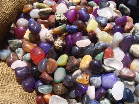 pirate mix tumbled polished gems