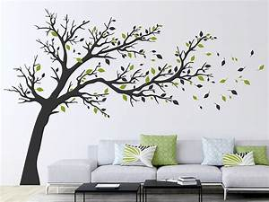 Baum An Wand Malen : wandtattoo gro er baum im wind von ~ Frokenaadalensverden.com Haus und Dekorationen