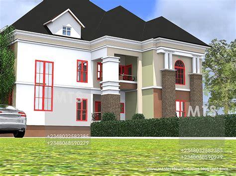 modern  contemporary nigerian building designs  edet  bedroom duplex
