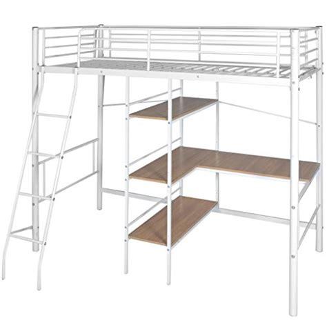 lit en hauteur avec bureau vidaxl lit pliant à hauteur avec bureau en métal blanc et