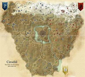 Cyrodiil Map - The Elder Scrolls Online game-maps com