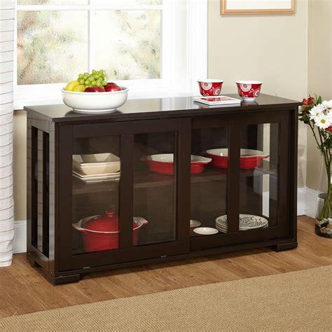 espresso sideboard buffet dining kitchen cabinet