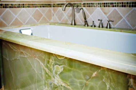 green onyx tub deck apron traditional bathroom