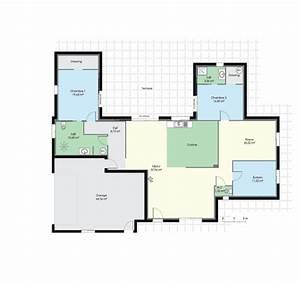 Maison de plain pied 2 Détail du plan de Maison de plain pied 2 Faire construire sa maison
