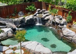 Jardin Avec Bassin : 1001 mod les spectaculaires de piscine avec cascade ~ Melissatoandfro.com Idées de Décoration