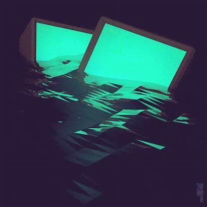 Aesthetic Computer Gifs Aesthetics Grunge Ocean Glow