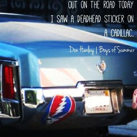 road today    deadhead sticker