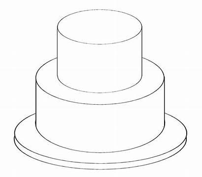 Cake Tier Template Printable Templates Outline Birthday