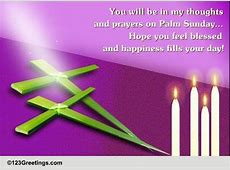 You In My Thoughts Free Palm Sunday eCards, Greeting