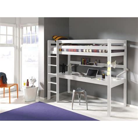 lit mezzanine avec bureau ruben 90x200 blanc achat