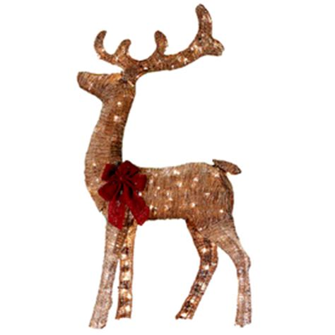 lighted grapevine reindeer outdoor christmas shop living lighted reindeer outdoor decoration with white incandescent lights