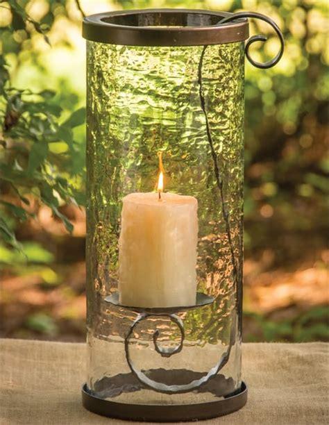 hanging pillar candle holder  glass park designs
