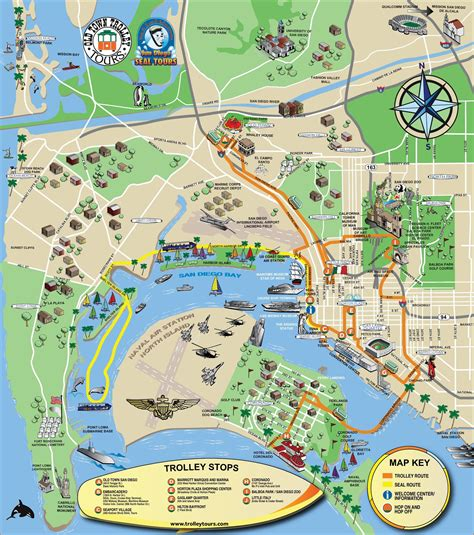 san diego sightseeing map san diego tourist attractions