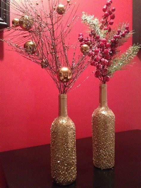 diy decor fails craft epsom salt gold spray paint diy wine bottle