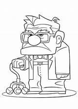 Carl Fredricksen Coloring Disney Annoyed Netart Simpsons Printable Pixar Bart Ariel Sheets Colouring Dibujos Dibujar Stitch Guardado Desde sketch template