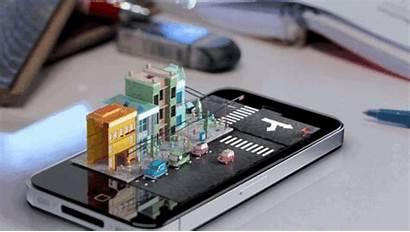 Iphone Display Holographic Phone Futuro Olografico Screen