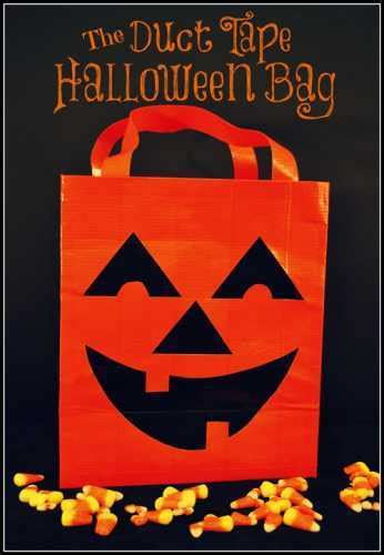 Duct Tape  Halloween Favor Bag  Party Ideas