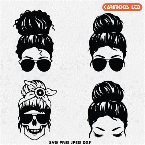 Messy buns & guns svg. Messy Bun SVG | Karimoos | Free and Premium SVG Design Bundles