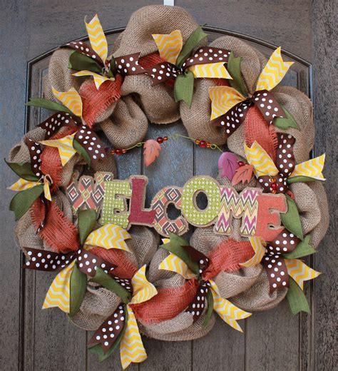 burlap wreath tutorial part   adding ribbon youtube