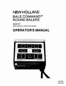 New Holland Bale Command Operators Manual For Round Baler
