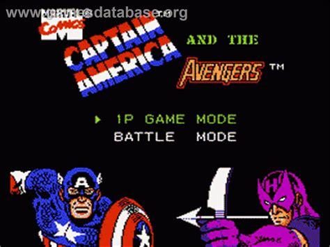 Captain America And The Avengers Nintendo Nes Games