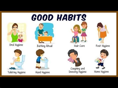 daily activities  kids good habits  manners