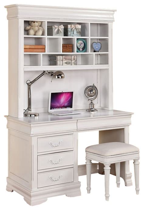 kids desk with hutch classique collection white finish wood children 39 s desk