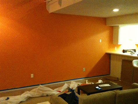 modern home interior orange color painting ideas for
