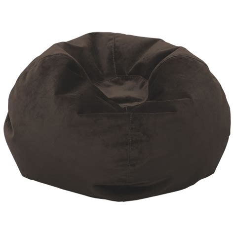 comfy polyester bean bag espresso brown