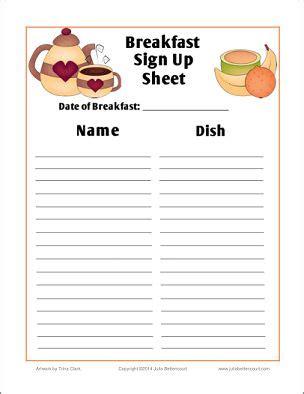 breakfast sign  sheet  printable madebcreative