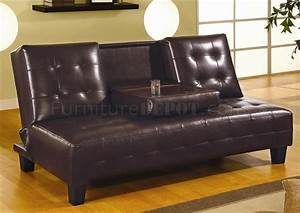 Dark chocolate leather sofa dark chocolate brown bycast for Flip down sofa bed