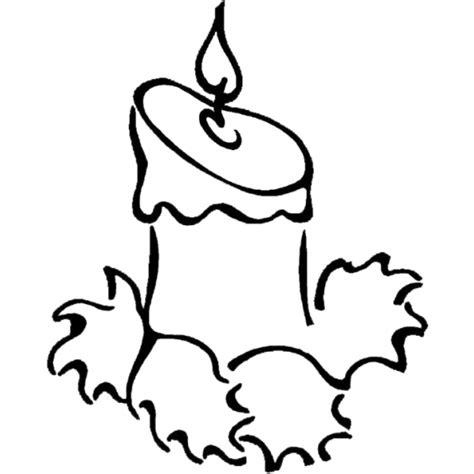 Candela Di Natale Da Colorare by Disegno Di Candela Di Natale Da Colorare Per Bambini