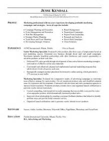 resumes for a marketing marketing resume exles essaymafia